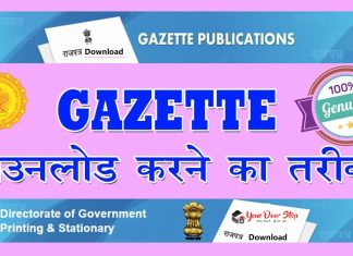 how to download name change gazette notification