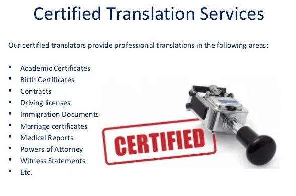 translation services of marriage certificate