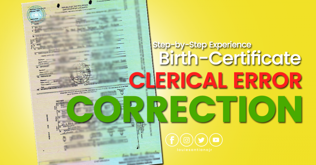 birth certificate correction