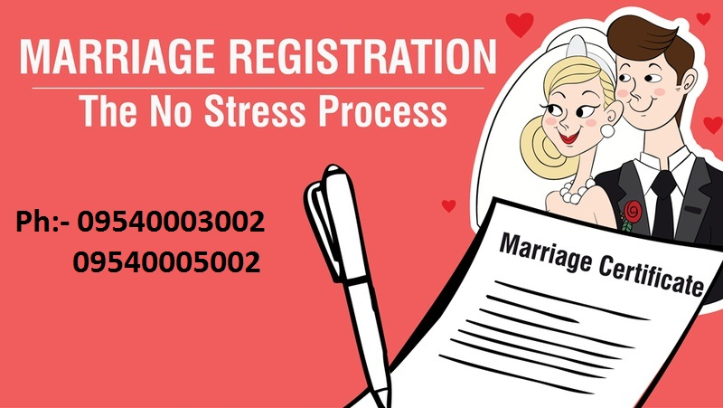 Marriage Certificate in Delhi |Ph 9540005064-Marriage