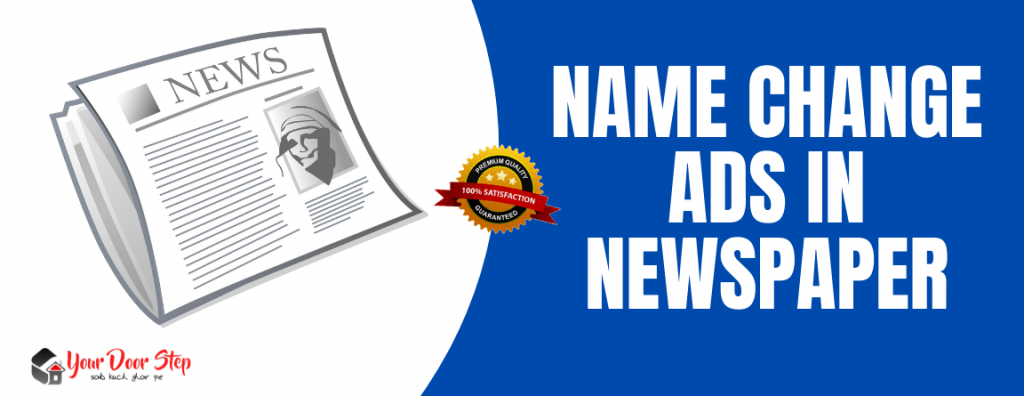 name change ads in newspaper delhi