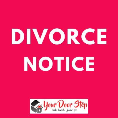 Divorce Public Notice   Divorce ads in newspaper in india