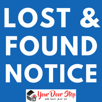 Public notice for lost and found in India   Lost and Founds Public Notice in India