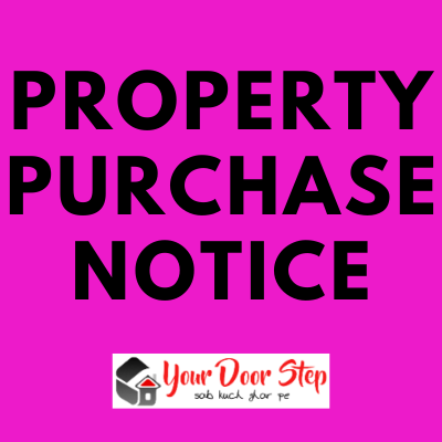 Public notice for property purchase   Purchase of property ads in newspaper