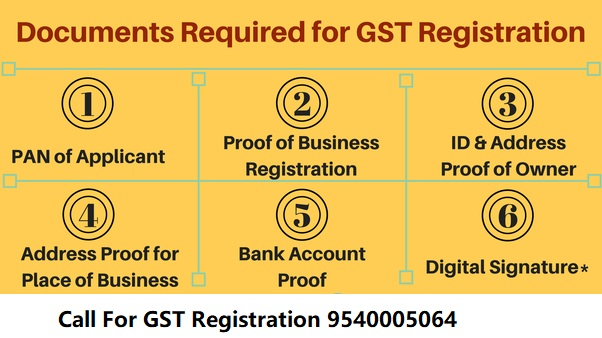 DOCUMENTS REQUIRED FOR GST REGISTRATION IN DELHI
